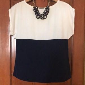 Vince Camuto colorblock blouse